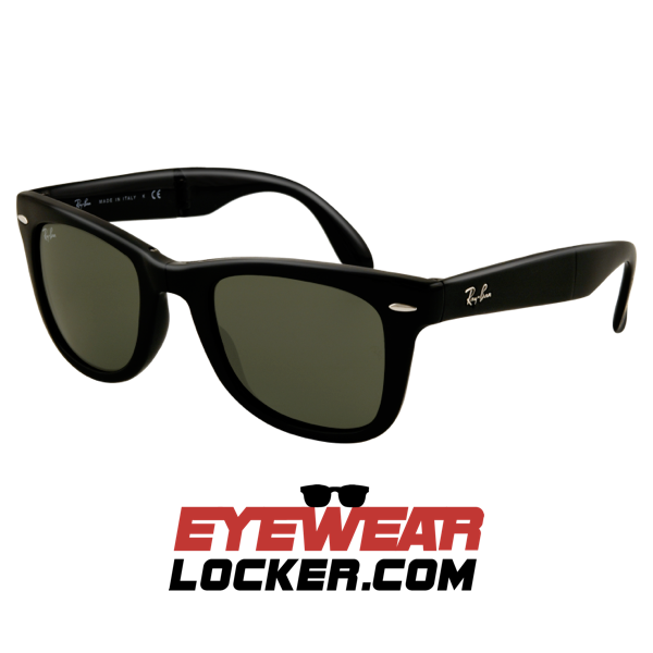 79c22fc537 Ray Ban Wayfarer Folding RB4105 Polished Black - EyewearLocker
