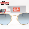 Gafas Ray Ban RB3548N Hexagonal Gold Azul Degradado 1 – Gafas Ray Ban Ecuador – EyewearLocker