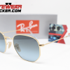 Gafas Ray Ban RB3548N Hexagonal Gold Azul Degradado 3 – Gafas Ray Ban Ecuador – EyewearLocker