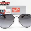 Gafas Ray Ban RB3558 Aviador Negro Pulido Negro Degradado Polarizadas 1 – Gafas Ray Ban Ecuador – EyewearLocker