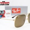 Gafas Ray Ban RB3595 Andrea Gold Cafe Polarizadas 2 – Gafas Ray Ban Ecuador – EyewearLocker