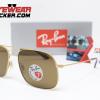Gafas Ray Ban RB3595 Andrea Gold Cafe Polarizadas 3 – Gafas Ray Ban Ecuador – EyewearLocker