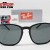 Gafas Ray Ban RB4387 Negro Pulido Verde G-15 1 – Gafas Ray Ban Ecuador – EyewearLocker